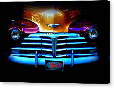1947 Police Car Canvas Print by Dana  Oliver