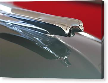 1948 Cadillac Series 62 Hood Ornament Canvas Print by Jill Reger