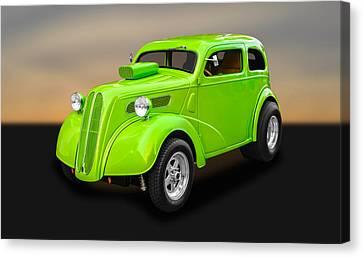 1948 Ford Anglia Sedan   -   48fdang750 Canvas Print by Frank J Benz