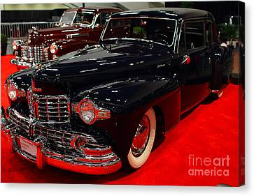 1948 Lincoln Continental Coupe . Deep Blue . 7d9256 Canvas Print by Wingsdomain Art and Photography