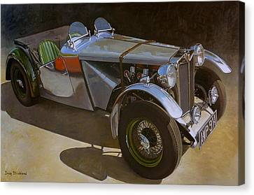 1948 M G  Racer Canvas Print by Doug Strickland