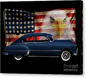 1949 Pontiac Tribute Canvas Print by Peter Piatt