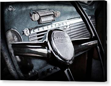1950 Chevrolet 3100 Pickup Truck Steering Wheel -0142ac Canvas Print by Jill Reger