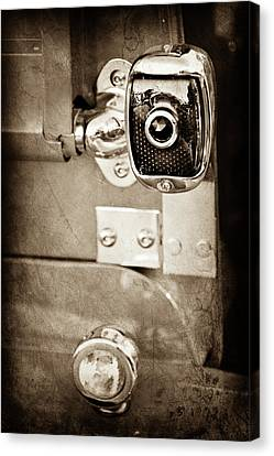 1950 Chevrolet 3100 Pickup Truck Taillight -0543s Canvas Print by Jill Reger