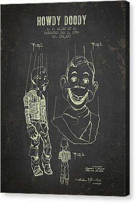 1950 Howdy Doody - Dark Grunge Canvas Print by Aged Pixel