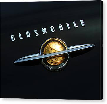 1950 Oldsmobile Rocket 88 Convertible Emblem Canvas Print by Jill Reger