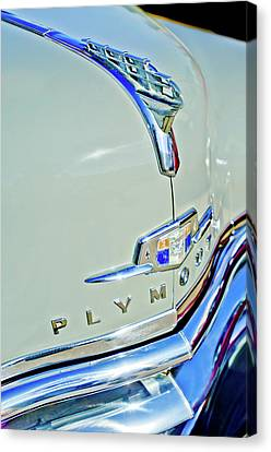 1950 Plymouth Coupe Hood Ornament Canvas Print by Jill Reger