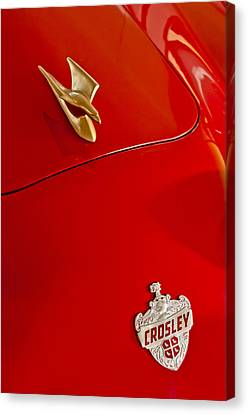 1951 Crosley Hot Shot Hood Ornament Canvas Print by Jill Reger