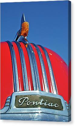 1951 Pontiac Chief Hood Ornament 2 Canvas Print by Jill Reger