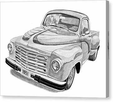 1951 Studebaker Pickup Truck Canvas Print by Daniel Storm