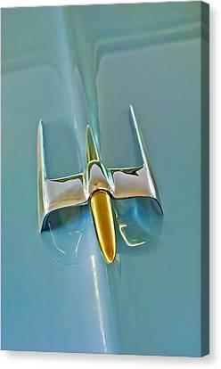 1953 Lincoln Capri Hood Ornament Canvas Print by Jill Reger