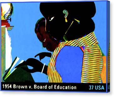 1954 Brown Vs Board Of Education Canvas Print by Lanjee Chee