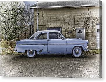 1954 Ford Crestline _ Hdr Canvas Print by Michael Rankin