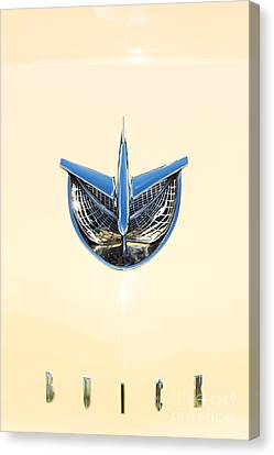 1956 Buick Special Riviera Hood Canvas Print by Tim Gainey