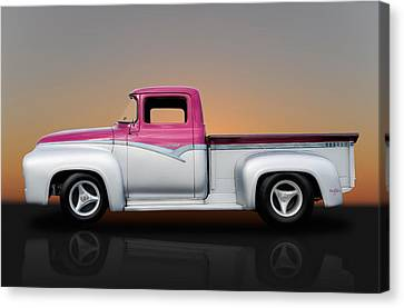1956 Ford F-100 Pickup Canvas Print by Frank J Benz