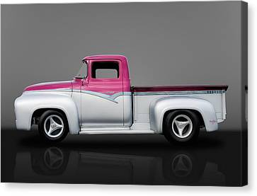 1956 Ford F100 Pickup Truck Canvas Print by Frank J Benz