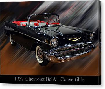 1957 Chevy Bel Air Convertible Canvas Print by Chris Flees
