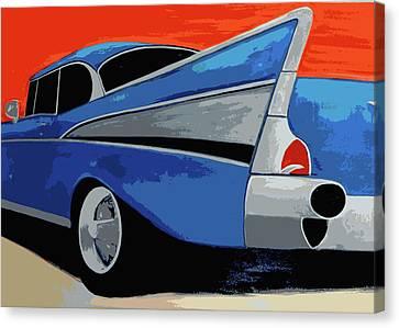 1957 Chevy Bel Air Canvas Print by Katy Hawk