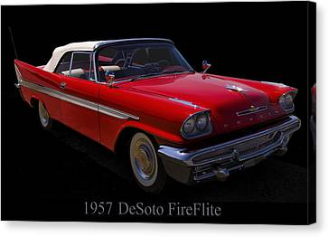 1957 Desoto Fireflite Convertible Canvas Print by Chris Flees