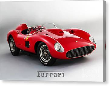 1957 Ferrari 335 S Spider Scaglietti. Canvas Print by Mohamed Elkhamisy