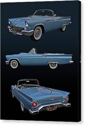 1957 Ford Thunderbird Canvas Print by Bill Dutting