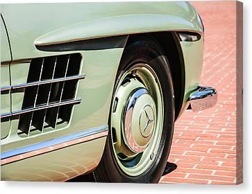 1957 Mercedes-benz 300 Sl Roadster Wheel Emblem -0121c Canvas Print by Jill Reger