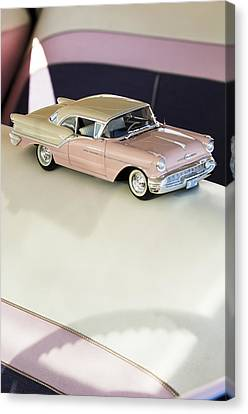 1957 Oldsmobile Super 88 Matchbox Car Canvas Print by Jill Reger