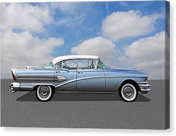 1958 Buick Roadmaster 75 Canvas Print by Gill Billington