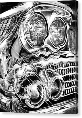 1958 Impala Beauty Within The Beast Canvas Print by Peter Piatt