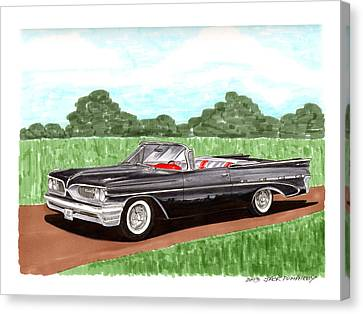1959 Bonneville Land Yacht Canvas Print by Jack Pumphrey