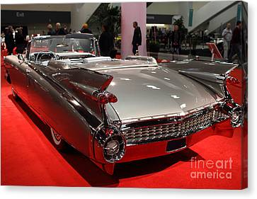 1959 Cadillac Convertible . Rear Angle Canvas Print by Wingsdomain Art and Photography