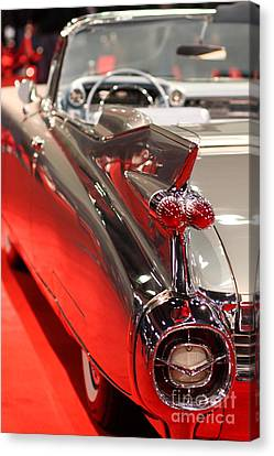 1959 Cadillac Convertible . Wing View Canvas Print by Wingsdomain Art and Photography