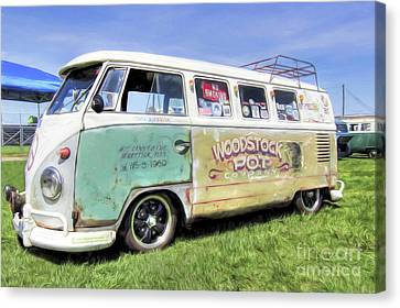1959 V.w. Split Window Bus Canvas Print by Marion Johnson