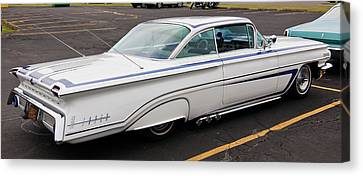 1960 Olds Eighty Eight 2023 Canvas Print by Guy Whiteley