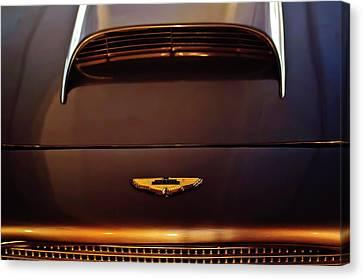 1961 Aston Martin Db4 Coupe Emblem Canvas Print by Jill Reger