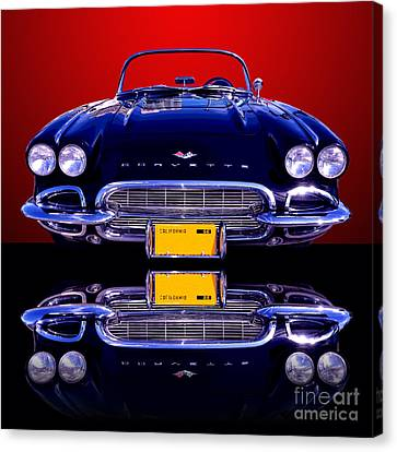 1961 Chevy Corvette Canvas Print by Jim Carrell
