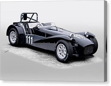 1962 Lotus Super Seven Vintage Racecar Canvas Print by Dave Koontz