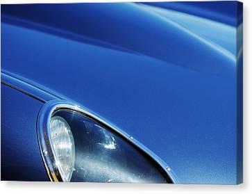 1963 Jaguar Xke Roadster Headlight Canvas Print by Jill Reger
