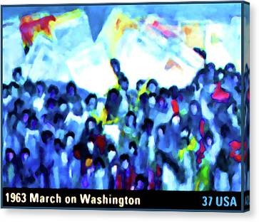 1963 March On Washington Canvas Print by Lanjee Chee