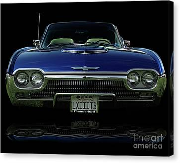 1963 Thunderbird Convertible  Canvas Print by Peter Piatt
