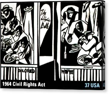 1964 Civil Rights Act Canvas Print by Lanjee Chee