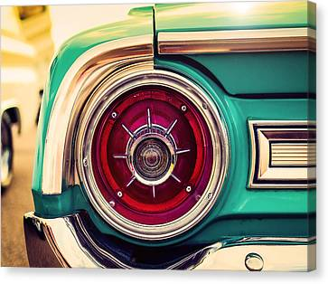 1964 Ford Galaxie 500 Xl Tail Light Canvas Print by Jon Woodhams