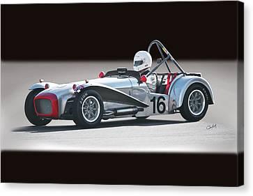 1964 Lotus Super 7 Vintage Racecar Canvas Print by Dave Koontz