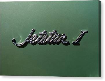 1964 Oldsmobile Jetstar Emblem Canvas Print by Nick Gray
