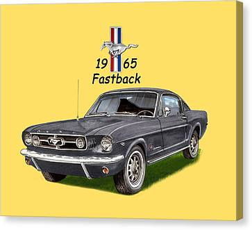 1965 Mustang Fastback Canvas Print by Jack Pumphrey