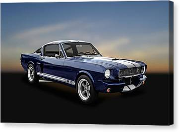 1965 Shelby Ford Mustang Gt 350 Fastback - 65fdmust873 Canvas Print by Frank J Benz