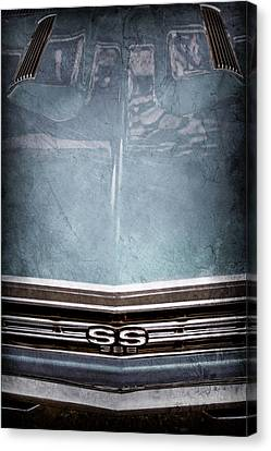 1967 Chevrolet Chevelle Super Sport Emblem -0028ac Canvas Print by Jill Reger