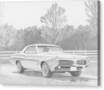 1967 Pontiac Tempest Muscle Car Art Print Canvas Print by Stephen Rooks