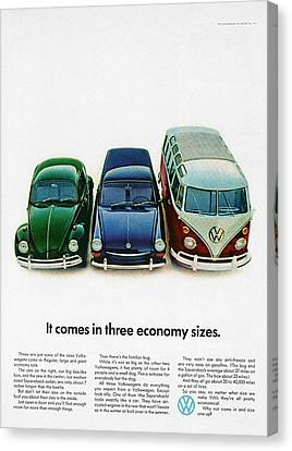 1967 Volkswagen Beetle Squareback And The Box Canvas Print by Digital Repro Depot