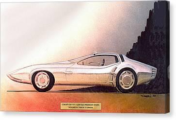 1968 Barracuda Vintage Styling Design Concept Sketch Canvas Print by John Samsen